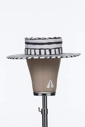 Bruna Abreu Striped Chalk Hat