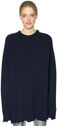 Filles a papa Oversized Wool Rib Knit Sweater
