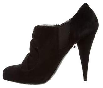 Miu Miu Round-Toe Cutout Booties