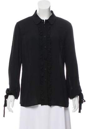 RED Valentino Long Sleeve Ruffled Top w/ Tags