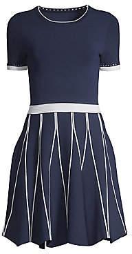 Shoshanna Women's Tinsley Short Sleeve A-Line Dress