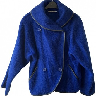 Guy Laroche Blue Wool Jacket for Women Vintage