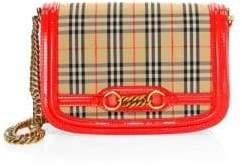 Burberry Vintage Check Cotton& Leather Shoulder Bag