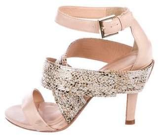 Rebecca Minkoff Metallic Crossover Sandals
