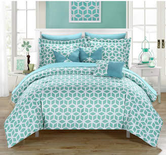 Chic Home Stefanie 10 Piece Queen Bed In a Bag Comforter Set Bedding