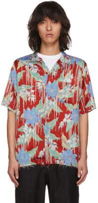 Christian Dada Red Aloha Open Collar Shirt