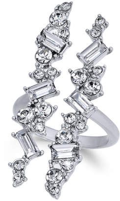 INC International Concepts I.N.C. Silver-Tone Wide Crystal Cuff Statement Ring, Created for Macy's