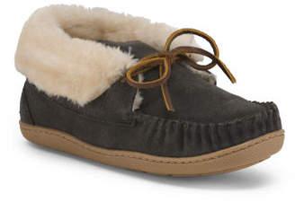 Judy Junior Suede Bootie Slippers