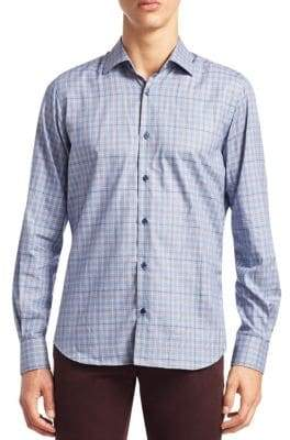 Saks Fifth Avenue COLLECTION Flannel Button-Down Shirt