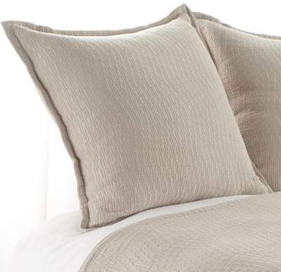 Bali Matelasse European Pillow Sham in Linen