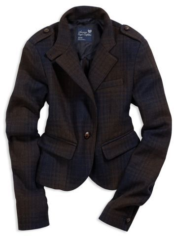 AE Plaid Wool Blazer
