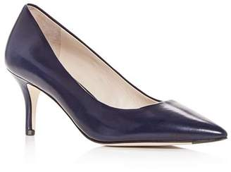 Cole Haan Women's Vesta Leather Pointed Toe Mid-Heel Pumps