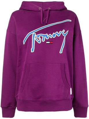Tommy Jeans logo embroidered hoodie