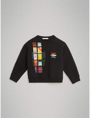 Burberry Childrens Logo Print Jersey Sweatshirt