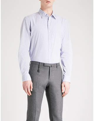 Michael Kors Diablo-print slim-fit cotton shirt