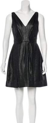 Zac Posen Z Spoke by Sleeveless Metallic Mini Dress