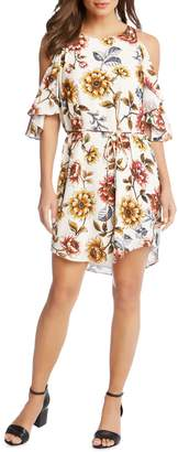 Karen Kane Kane Kane Cold Shoulder Floral Dress