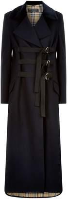 Burberry Oversized D-Ring Velvet Collar Coat