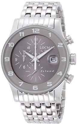 Locman (ロックマン) - [ロックマン]LOCMAN 腕時計 アイランド クオーツクロノグラフ ブレスレット ユニセックス 0620 062000AG-AGW2BR0 【正規輸入品】