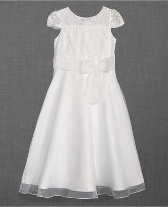 Us Angels Lace Illusion-Neck Dress, Little Girls (Size 5)