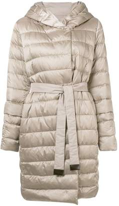 Max Mara 'S hooded belted coat