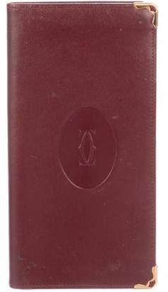 Cartier Leather Checkbook Holder