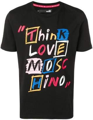 Love Moschino slogan print T-shirt