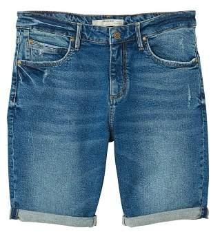 Mango man MANGO MAN Vintage wash denim bermuda shorts