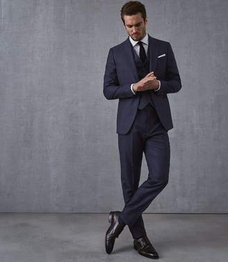 Reiss Our last order date for Christmas has now passed BEAKON MODERN FIT CHECKED SUIT Blue
