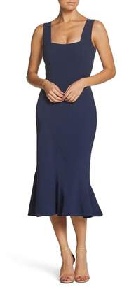 Dress the Population Monica Tea Length Trumpet Dress