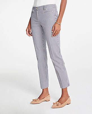 Ann Taylor The Cotton Crop Pant In Seersucker - Curvy Fit