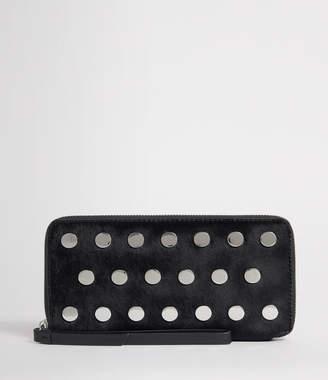 AllSaints Sid Leather Phone Wristlet
