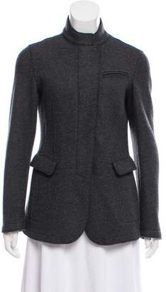 Armani Collezioni Stand Collar Zip-Up Jacket