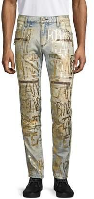 Robin's Jean Metallic-Print Skinny Jeans