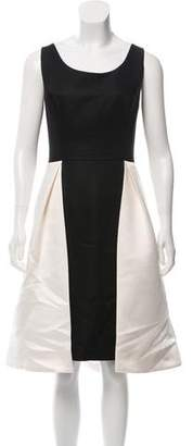 Halston Colorblock Midi Dress