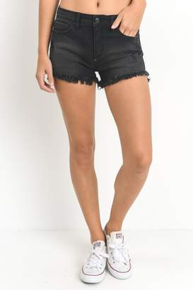 Just USA Black Cutoff Short