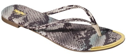 Mossimo Women's Lena Metal Toe Flip Flop - Natural Snake