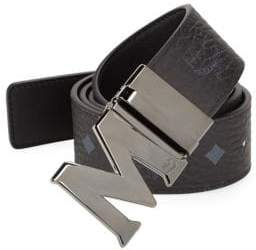 MCM Flat Coated Canvas Belt