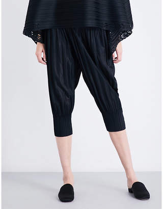 Pleats Please Issey Miyake Fluffy Basic cropped pleated trousers