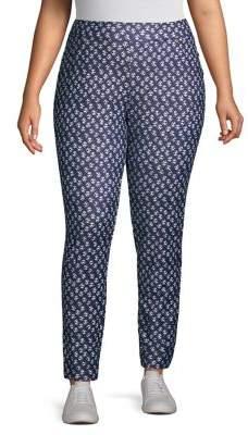 MICHAEL Michael Kors Abstract Batik High-Rise Pocket Leggings