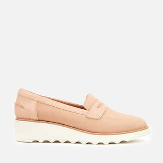 Clarks Women's Sharon Ranch Leather Loafers - Nude