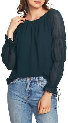 1 STATE 1.STATE Double Gathered Sleeve Blouse