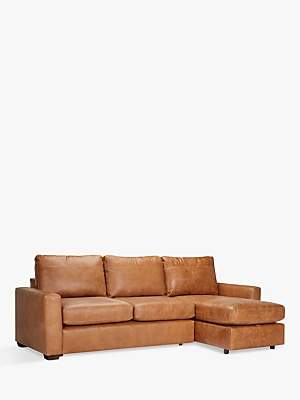 c3208e1a52d John Lewis   Partners Oliver Leather Storage Chaise Sofa