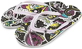Volcom Women's Rocking 3 Graphic Printed Sandal Flip-Flop
