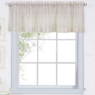 Elrene Linen Stripe Rod-Pocket Sheer Valance