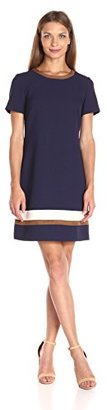 Tommy Hilfiger Women's Pebble Crepe Shift W. Suede $111.64 thestylecure.com