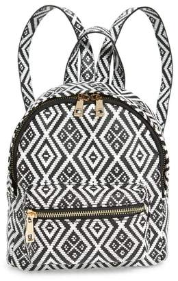 Emperia Weave Pattern Faux Leather Mini Backpack