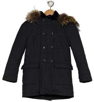 Aletta Boys' Hooded Double-Breasted Coat