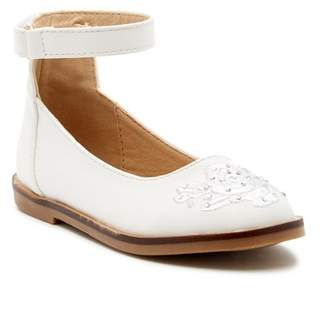 Nicole Miller Embroidered Ankle Strap Dress Shoe (Toddler)