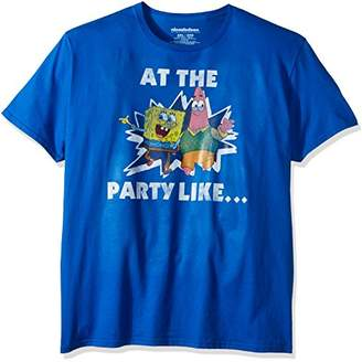 Nickelodeon Unisex-Adults Spongebob Patrick At the Party Like T-Shirt